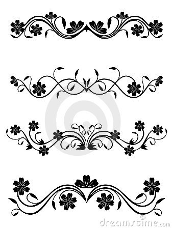 Vintage floral decorations