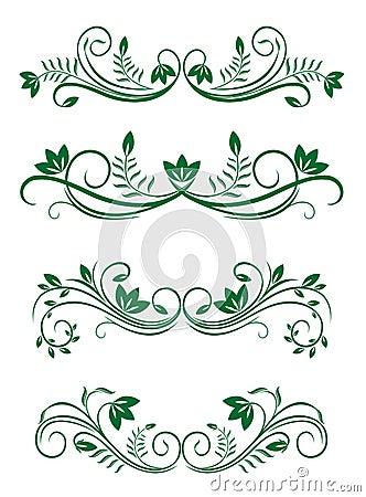 Vintage floral decorations