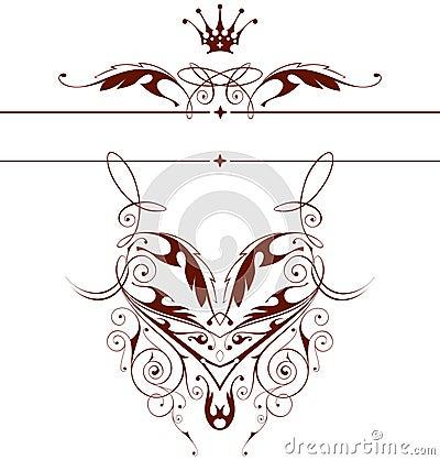 Vintage floral emblem