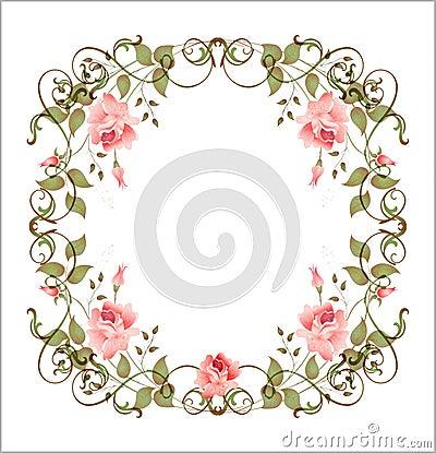 Free Vintage Floral Frame Stock Photo - 13354690
