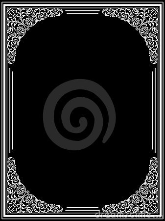 Vintage floral frame. Decorative pattern. Vector i