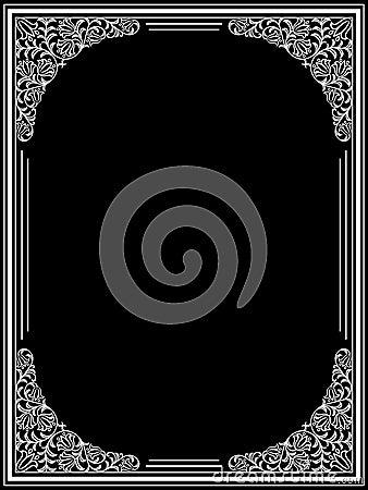 Vintage floral frame. Decorative pattern. Vector i