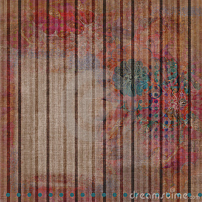 Vintage Floral Grunge Bohemian Tapestry