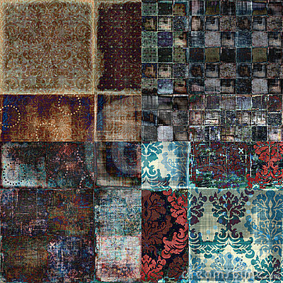 Free Vintage Floral Grunge Bohemian Tapestry Scrapbook Background Royalty Free Stock Photo - 1801015