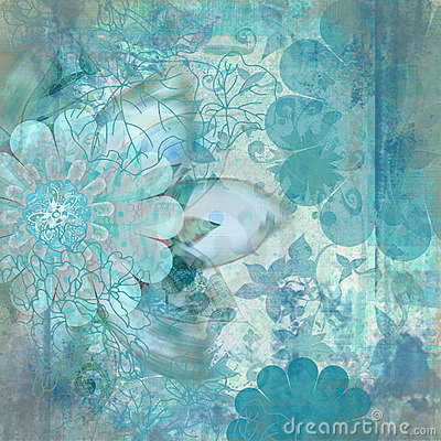 Free Vintage Floral Grunge Bohemian Tapestry Scrapbook Background Stock Photography - 1801092