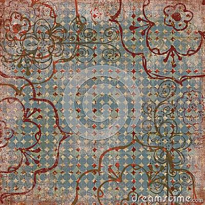 Vintage Floral Grunge Paper