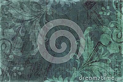 Vintage floral Scrapbook Background