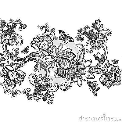 Free Vintage Floral Scrapbook Background Stock Photography - 5790342