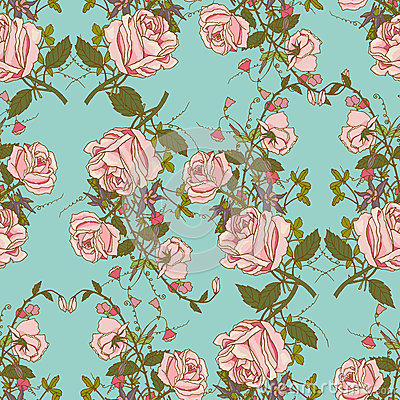 Free Vintage Floral Seamless Color Pattern Royalty Free Stock Image - 45063366