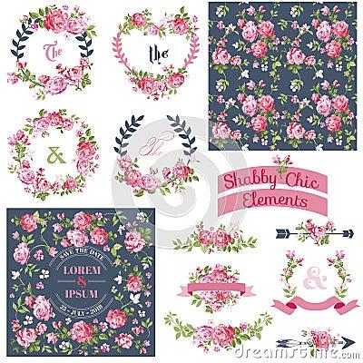 Free Vintage Floral Set Stock Photos - 49388493