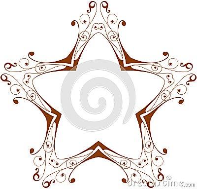 Vintage floral star