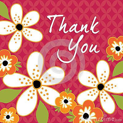 Free Vintage Floral Thank You Card Template Royalty Free Stock Photos - 36422918