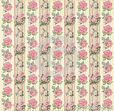 Free Vintage Floral Wallpaper Stock Image - 46092591