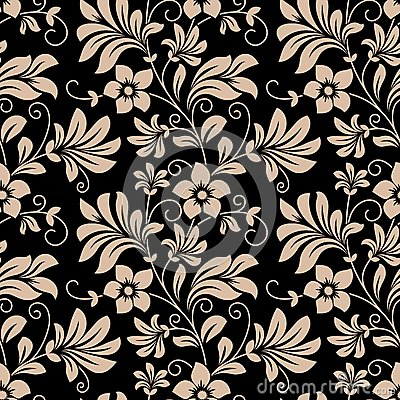Free Vintage Floral Wallpaper Seamless Pattern Royalty Free Stock Photography - 40823517