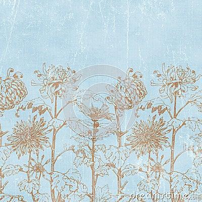 Free Vintage Florals Botanical Paper Background Stock Photo - 4697030