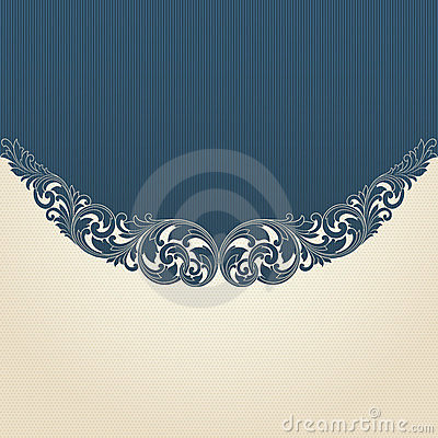 Vintage flourish engraving pattern border frame