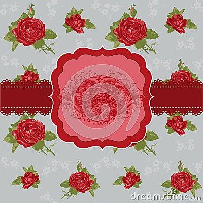 Free Vintage Flower Card Stock Images - 26664814