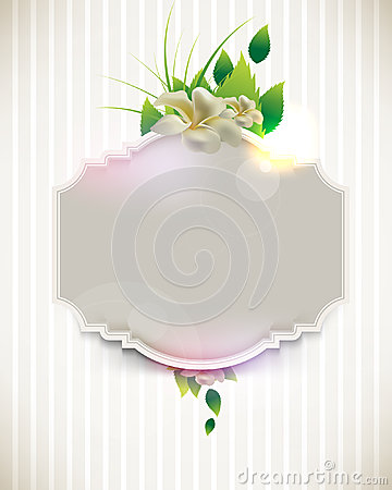 Vintage flower concept background