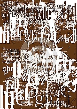 Vintage font texture