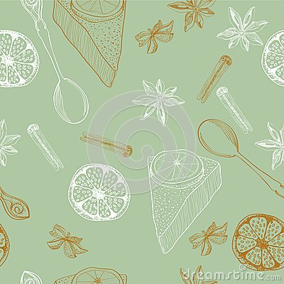 Vintage food background
