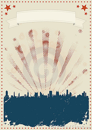 Vintage Fourth Of July Poster