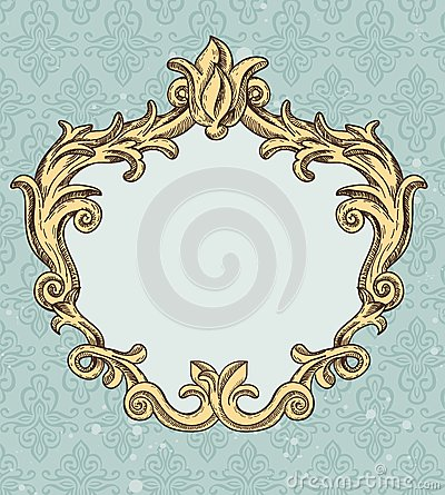 Vintage frame with copy space for text