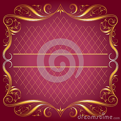 Vintage_Frame on dark rose Background