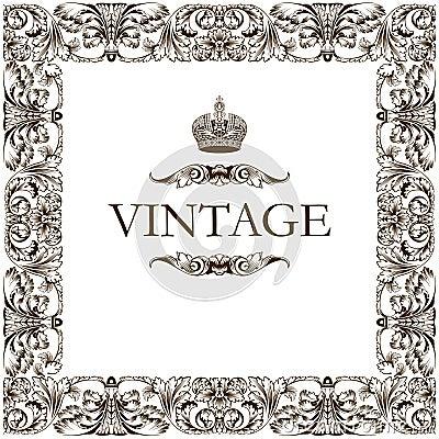Free Vintage Frame Decor Ornament Stock Images - 10377204