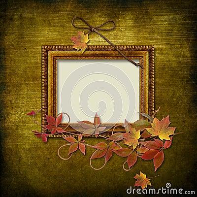 Vintage frame on grunge background