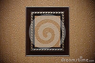 Vintage Frame On Textured Wallpaper Stock Photos - Image: 17717333