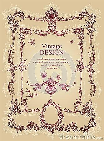Vintage frame (vector)
