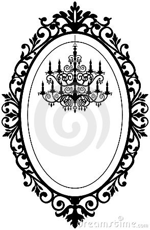 Free Vintage Frame With Chandelier Stock Photo - 19325400