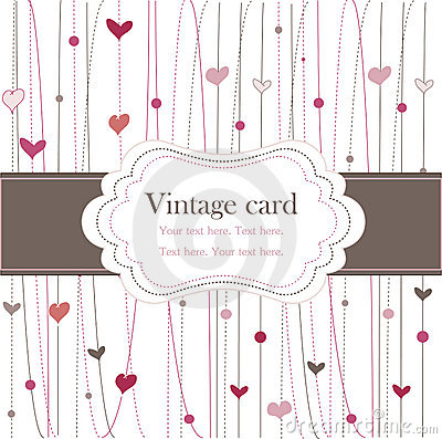 Free Vintage Frame With Hearts Royalty Free Stock Photo - 15724835