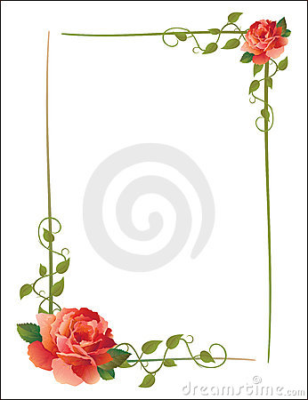 Free Vintage Frame With Roses Stock Photo - 9688910