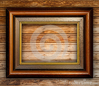 Vintage Frame on Wood