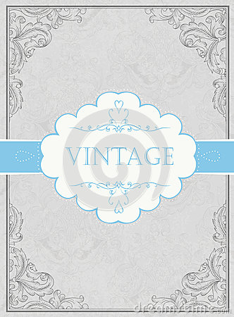 Vintage framed background