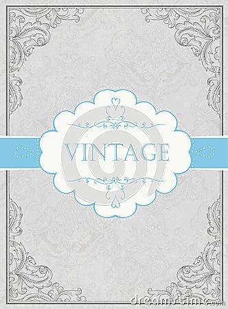 Vintage framed background