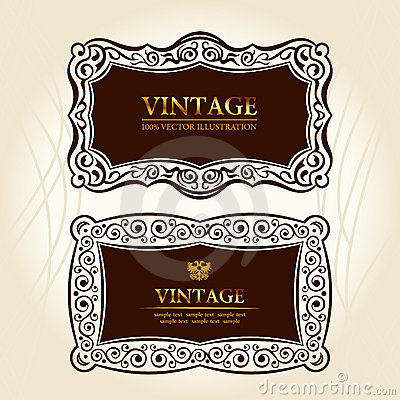 Vintage frames labels.  decor
