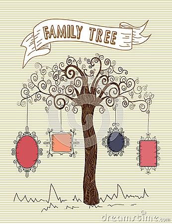 Colorful old school leaf tree stripes background design. Vector file ...