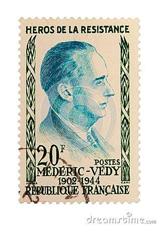 Vintage France Postage Stamp