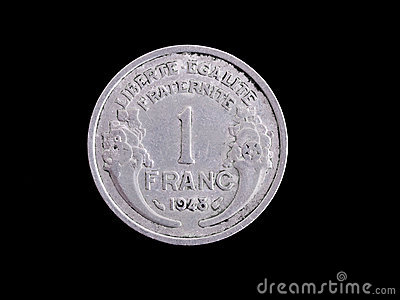 Vintage French Franc coin