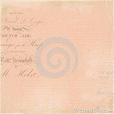 Vintage French Letter script background