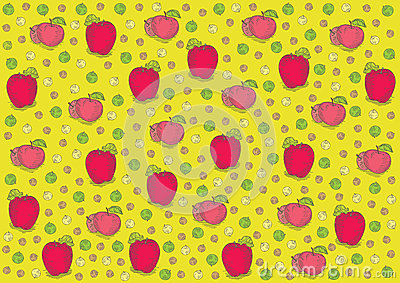 Vintage fresh apples pattern