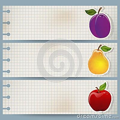 Vintage fruit banner