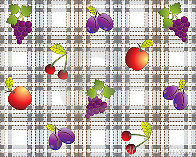 Vintage fruit design tablecloth