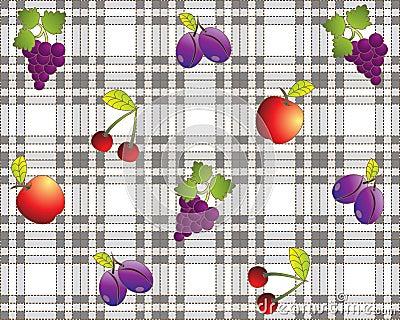 Vintage fruit design tablecloth