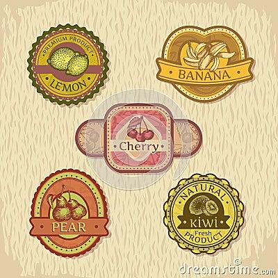 Free Vintage Fruit Label Royalty Free Stock Images - 29723029