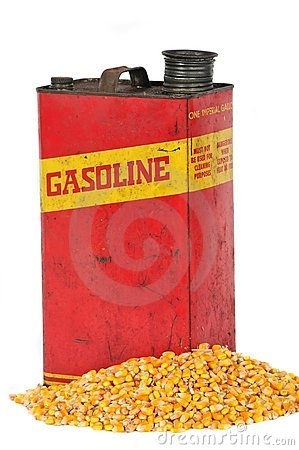 Vintage fuel container gasoline or corn ethanol