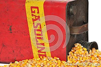 Vintage fuel container gasoline or corn ethanol