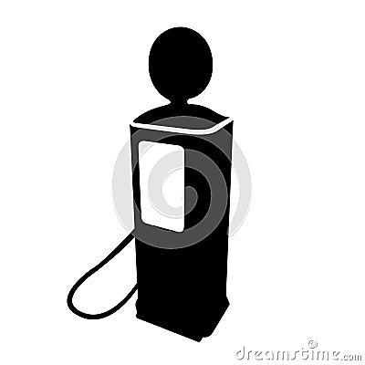 Vintage fuel pump silhouette